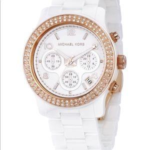 Michael Kors Rose gold/White Ceramic watch MK5269